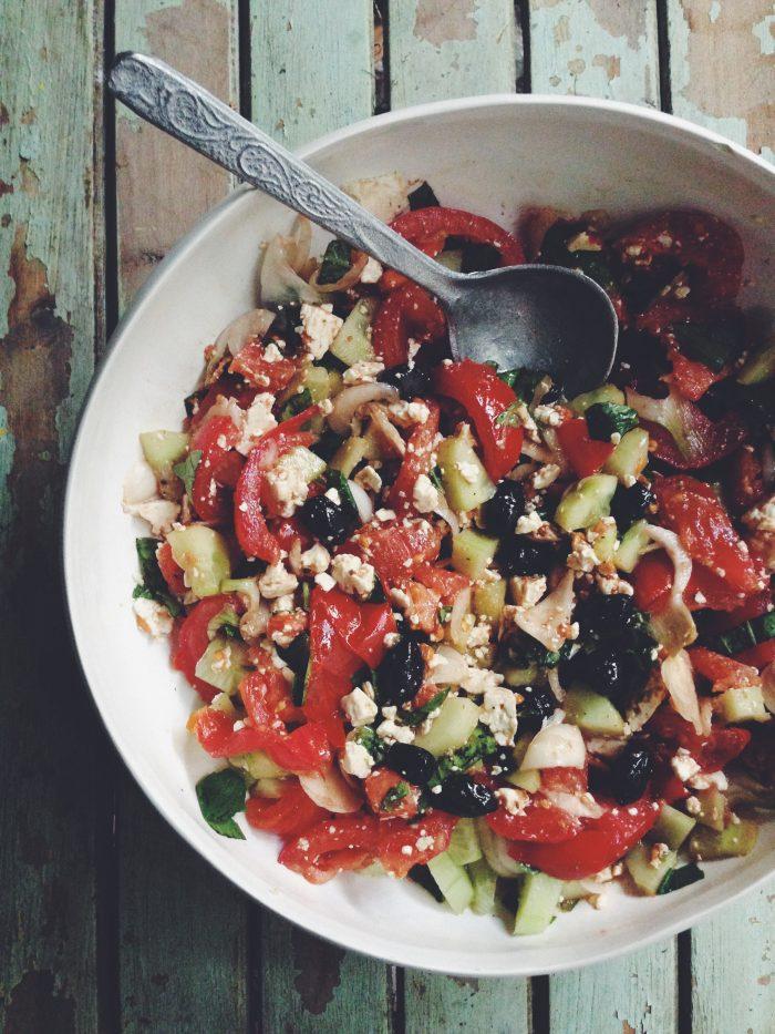 Salade grecque - Juliette Lalbaltry - Blog - Styliste culinaire