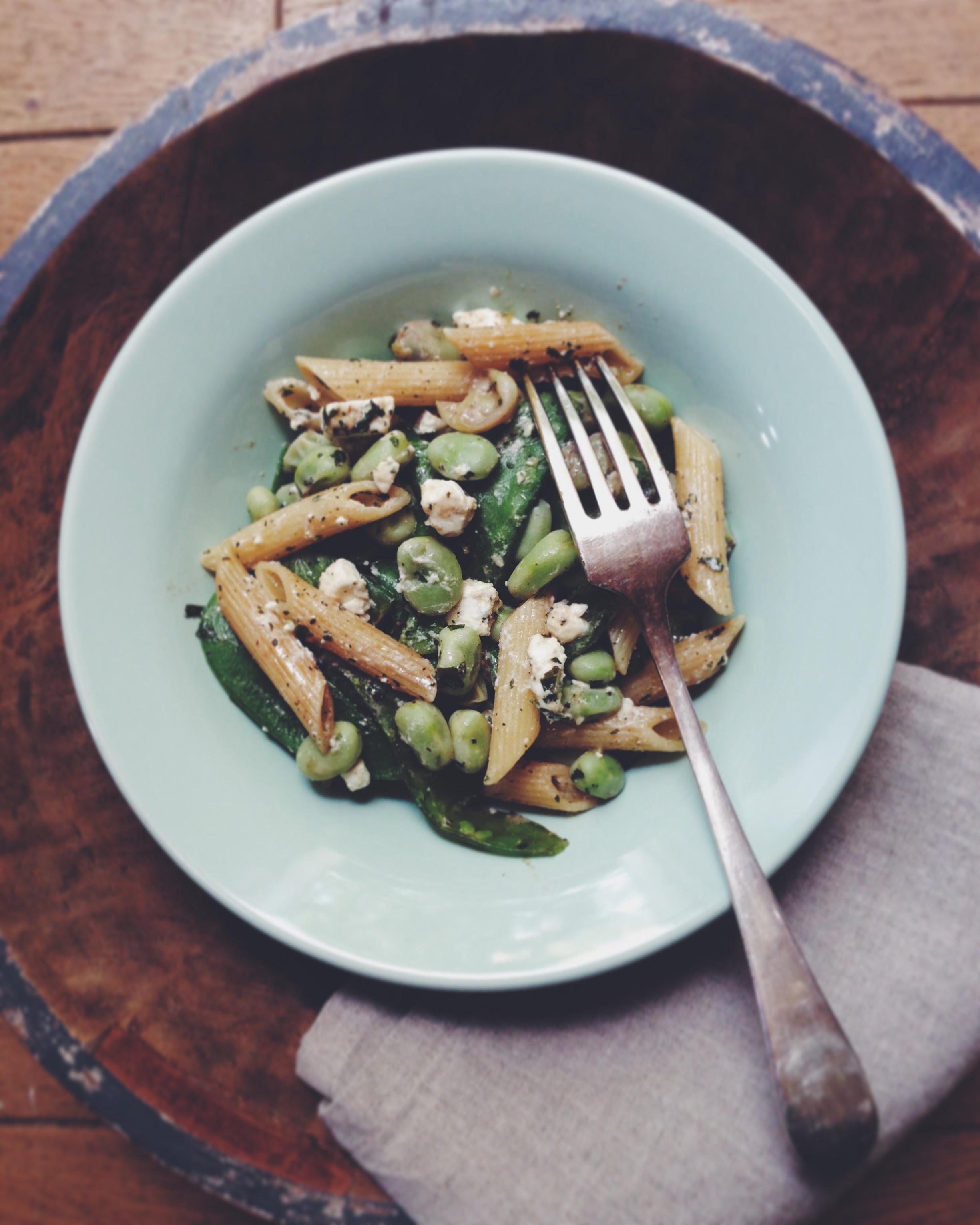 Salade de pâtes aux fèves - Juliette Lalbaltry
