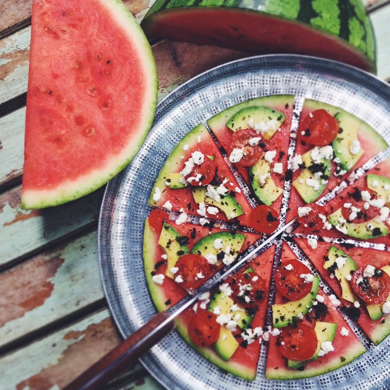 Pizza pastèque - Juliette Lalbaltry - Blog